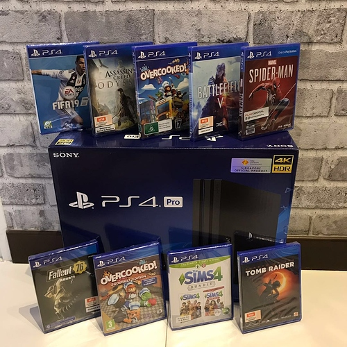 for Sony PlayStation 4 Pro 1Tb with 10 Games new - Copy