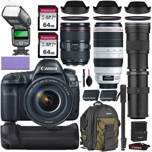 HOT BRAND NEW!!MARKET MOVIING___Wholesales For Canon EOS 5D Mark IV DSLR Camera & 24-105mm f 4L II USM Lens+ 64GB Pro Video Kit4