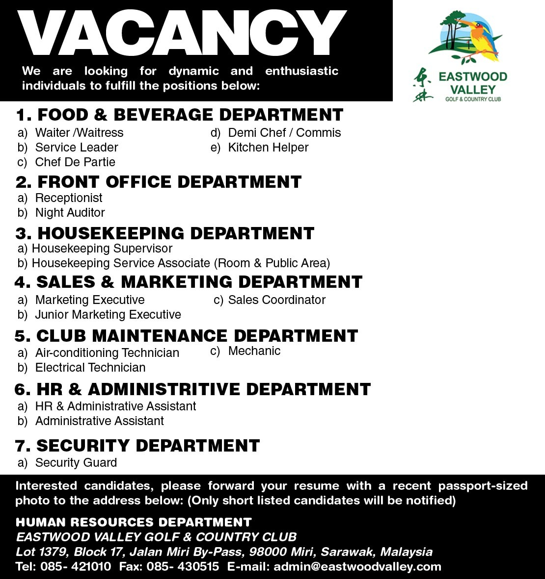 ew vacanciesjpg1110x1181 230 kb - Golf Assistant Jobs