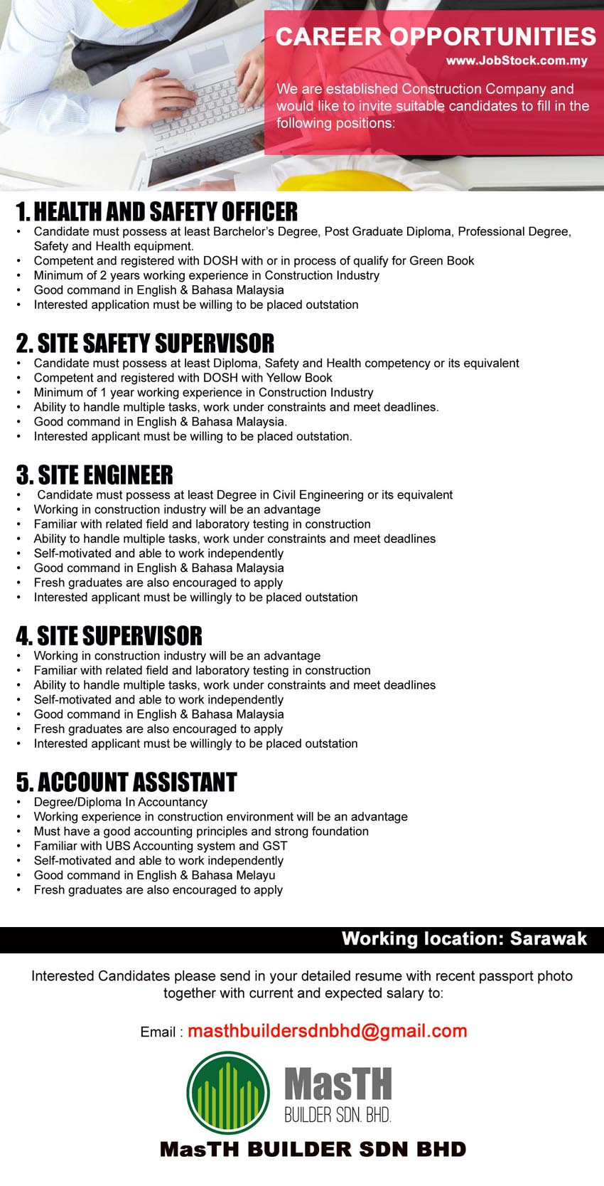 Masth Builder Sdn Bhd Jobs Miricommunity Net