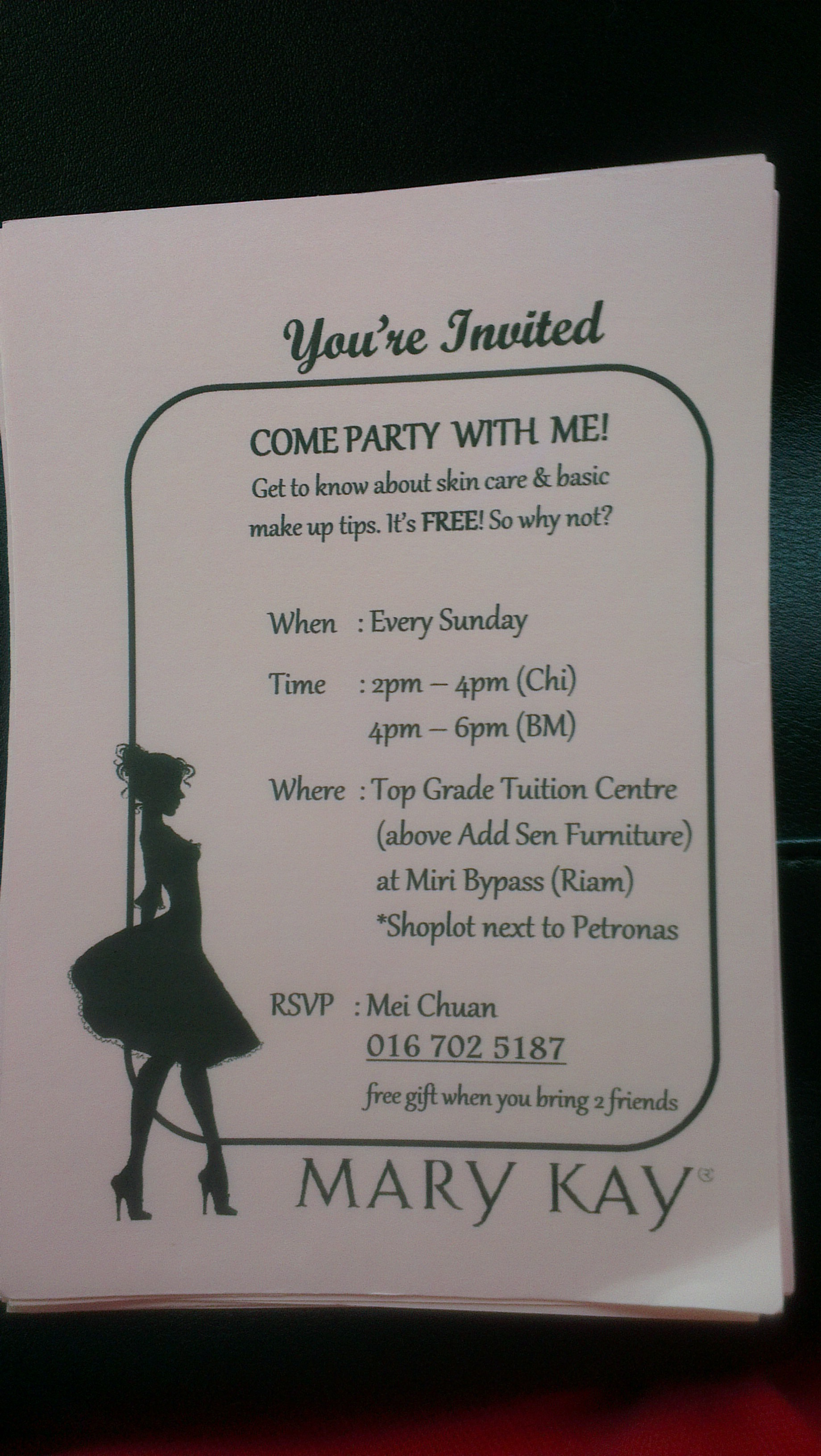 Mary kay skin care class invitation jobs miricommunity imag1367g1840x3264 988 kb stopboris Choice Image